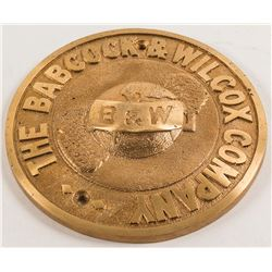 Babcock & Wilcox Company Bronze Logo Casting