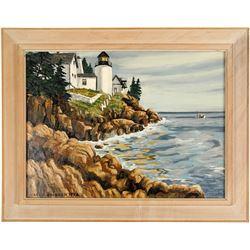 Bass Head Harbor Light House Painting