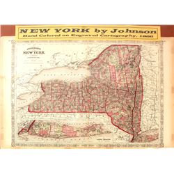 Map of New York 1866