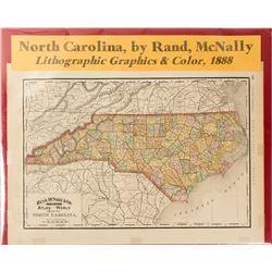 Map of North Carolina 1888