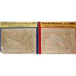 Maps of South Dakota & North Dakota
