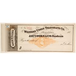 Western Union Telegraph Company unused Check