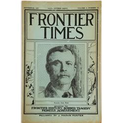 Frontier Times, Texas Ranger James Peak on Cover