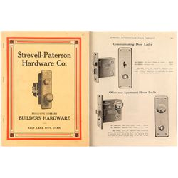 Early Hardware Catalog: Strevell-Paterson, Salt Lake City