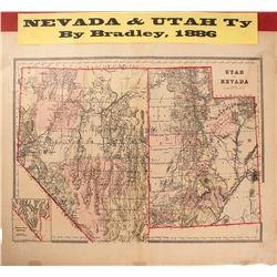 Map of Nevada & Utah Territories