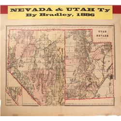 Map of Nevada & Utah Territories
