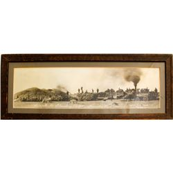Panoramic Farm Photo in Frame, Kensaston, Saskatchewan