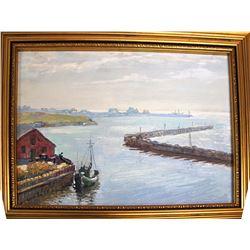 Oil Painting of Gaspe Peninsula, Quebec, Canada