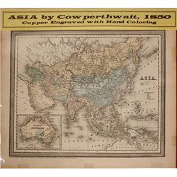 Map of Asia, 1850