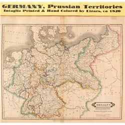 Map of Germany, Prussian Territories