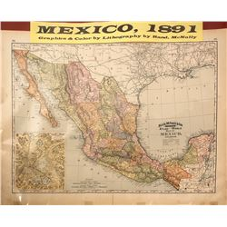 Map of Mexico, Rand-McNally