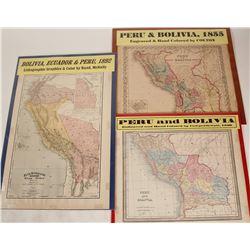 Maps of Peru and Bolivia