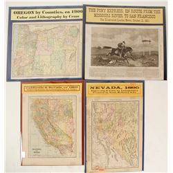 Pony Express and Westward Expansion Map Group