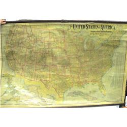 US Wall Map, National Publishing Co., 1902