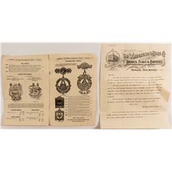 Token/Badge Letterhead and Catalog Including Masons
