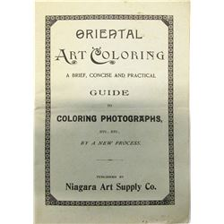 Guide/Pamphlet to Hand Coloring Photos