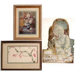 Watercolor, Print and Tin paintings