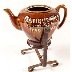 Bennington Style Banquet Tea Pot with Iron Holder