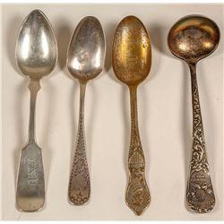 Souvenir Silver Spoons (4)