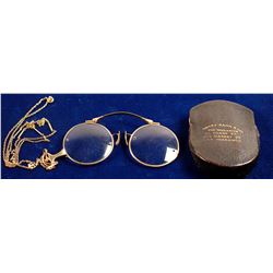 Folding Spectacles with Leather Case
