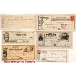Checks from Washington D. C., Maryland, Delaware, etc.