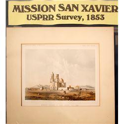 Print of Mission Church of San Xavier Del Bac