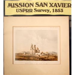 Print of Mission Church of San Xavier Del Bac