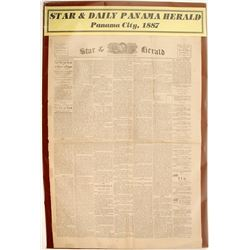 Star & Daily Panama Herald Newspaper 1887