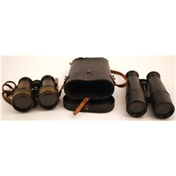 Two Pair of Vintage Field Binoculars