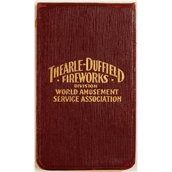 Vintage Fireworks Folding Notepad