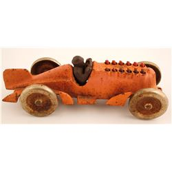 Vintage Hubley Cast Iron Toy Race Car