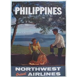 Northwest Orient Airlines Philippines Travel Poster