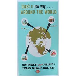 Northwest Orient Airlines/Trans World Airlines Travel Poster