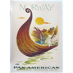 Pan American Airlines Norway Travel Poster