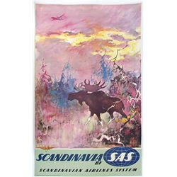 Scandinavian Airlines Scandinavia Travel Poster