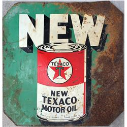 New Texaco Motor Oil Metal Sign