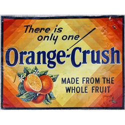 Orange Crush Metal Sign
