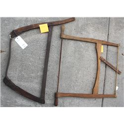 A Pair of bow saws