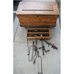 Carpenter's Tool chest of vintage tools