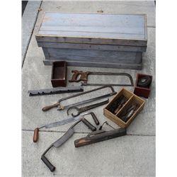 carpenter's tool chest with goodel-pratt spirit level