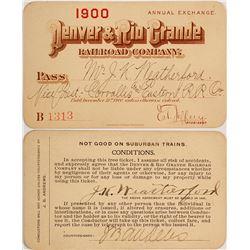 Denver & Rio Grande Railroad Pass, 1900