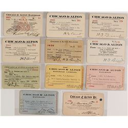 Chicago & Alton Railroad Pass Collection