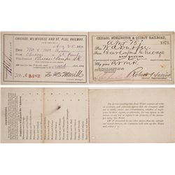 Two 1870s Chicago Railroad Passes