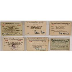 Illinois Central Railroad Co. Pass Collection