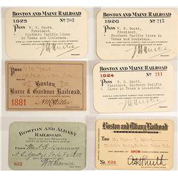 Boston Railroad Pass Collection