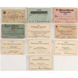 Missouri Pacific Railway Co. Pass Collection
