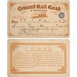 Concord Railroad Pictorial Pass, 1886