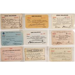 Lake Erie Railroad Pass Collection