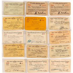 New York Central Railroad Pass Collection