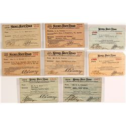 New York, Chicago, & St. Louis Railroad Co. Passes